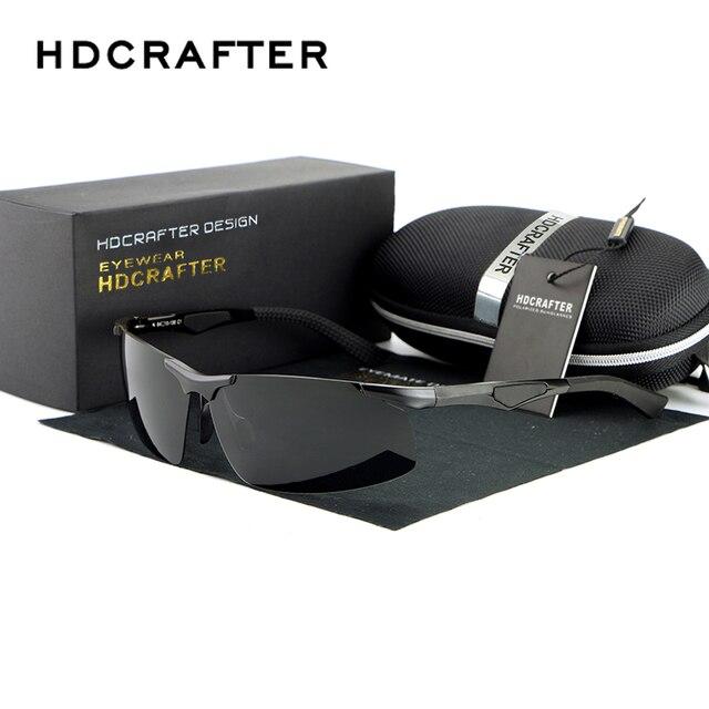 Hot Men's Driving Half-frame Magnesium Alloy Mirror Polarized Sunglasses Fashion Eyewear