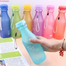 Крутая антиосенняя конфетная Осенняя пластиковая бутылка для газировки матовая герметичная креативная летняя портативная чашка для воды 500 мл Посуда для напитков