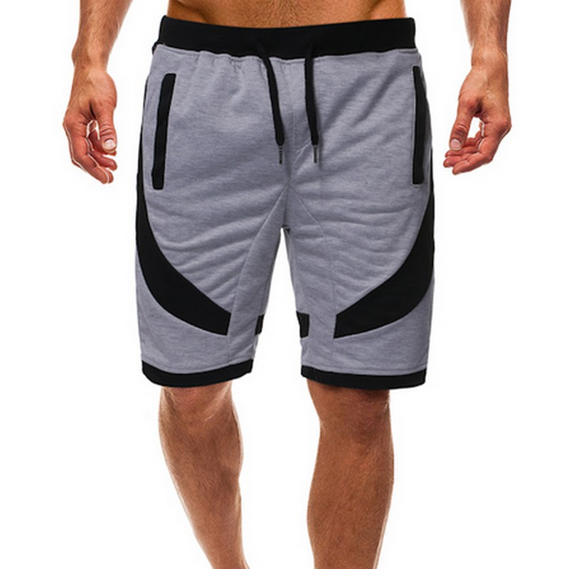 Summer Men's Shorts Casual Sports Color Matching Breeches Loose Fitness Male Streetwear Plus Size S-2xl