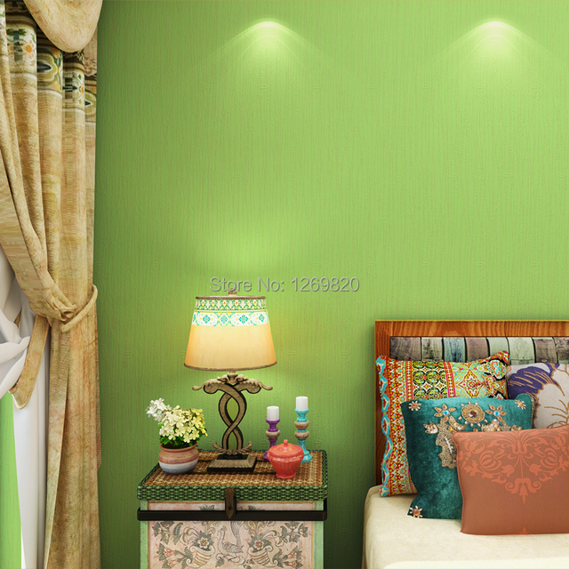 Matcha Green Pure Pigment Color Non Woven Wallpaper In Southeast Asia The Sitting  Room The