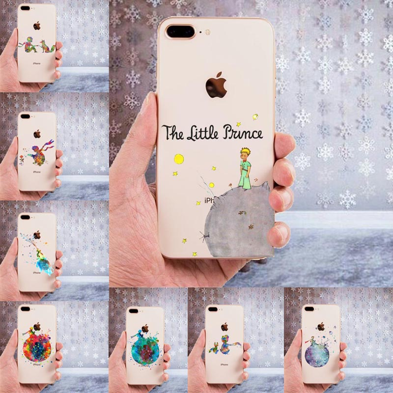0343fbaacd5 Little Prince Print Soft TPU Silicone Case For Coque Apple iPhone XS Max 4S 5C  5 5S SE 6 6S 7 8 Plus X 10 XR Phone Back Cover