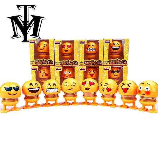 Emoji Figuras Enfeites de Balançando A Cabeça Da Boneca Bonito Brinquedos Engraçados Antistress Balançando Nas Figuras presentes modelo de Carro Auto Acessórios de Decoração