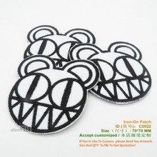 Индивидуальные Утюг На Заплате Radiohead Logo Вышивка Патч Ropa Аппликация Размер: 70*70 мм