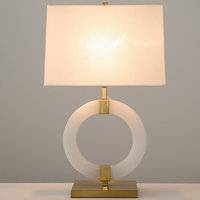 led e27 Nordic Iron Fabric Marble LED Lamp. LED Light. Table Lamp. Desk Lamp.LED Dest Lamp For Bedroom Foyer
