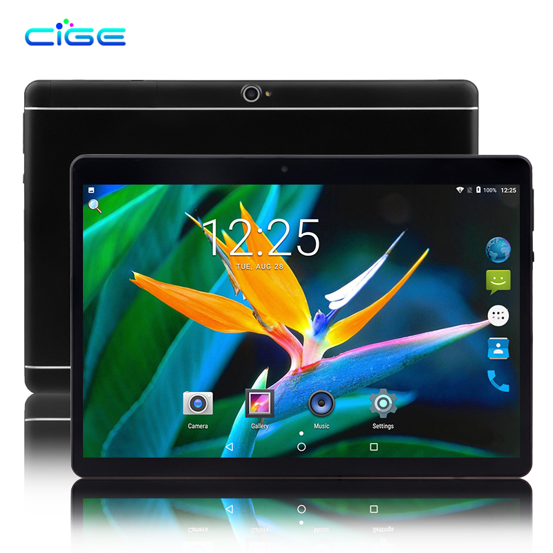 CIGE Hot 10.1 inch 3G 4G LTE 1920x1200 Tablet PC Octa Core Android 7.0 4GB RAM 32GB ROM Dual SIM Phone Call Tablets WIFI GPS цена