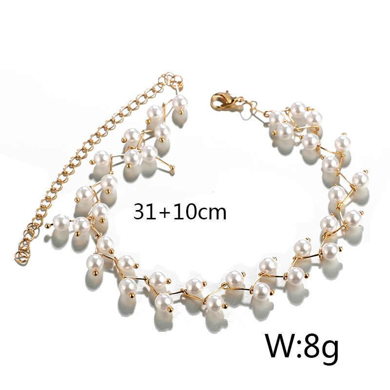 ใหม่ Elegant เจ้าสาวเครื่องประดับไข่มุก Clavicle Chain สร้อยคอสำหรับหญิง Chokers สร้อยคอเครื่องประดับงานแต่งงานของขวัญ