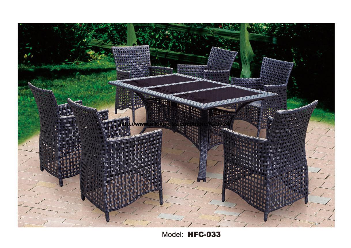 Classic Rattan Garden Set Modern Leisure Outdoor Desk