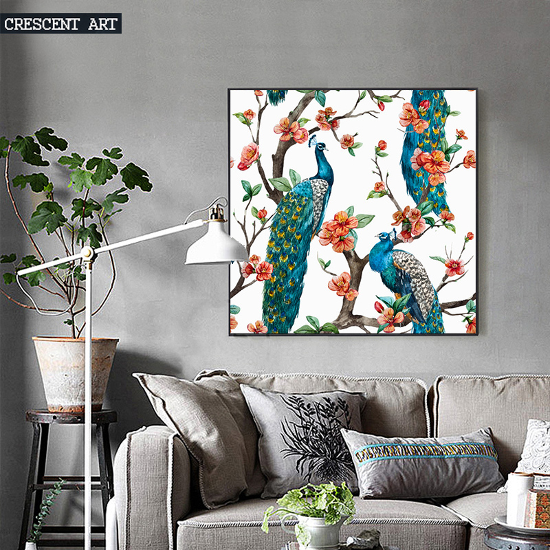 Summer Pop Art Wall Decoration Wildlife Peacock Poster Picture Tropical Print Canvas Home Decor For Livingroom In Painting Calligraphy From