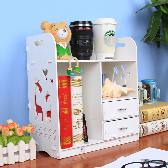 DIY wooden rack organizer bathroom storage shelf desktop organizer ...