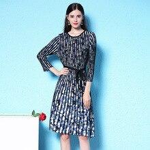 2018 autumn new stylish knitted dress small fresh dress autumn print drape lady knitting dress nw18c2757 bierelinnt autumn