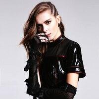 Gothic Black Elbow Cobweb Mesh Fishnet Female Fingerless Gloves Punk Women Glives With Spider Web Straps