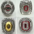 All NCAA 4 PCS rings 2014 2015 Ohio State Buckeyes National Championship Rings US Size 11 as best fans gift