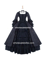 Black Gothic Antoinette Style Victorian Ball Gowns Victorian Dress