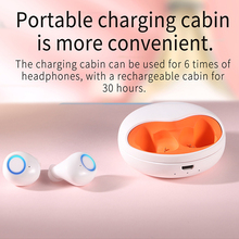 אוזניות אמיתי אלחוטי Bluetooth סטריאו אוזניות עם מקרה טעינה אלחוטי מוסיקה HeadphonesMini ספורט אוזניות עבור IOS אנדרואיד