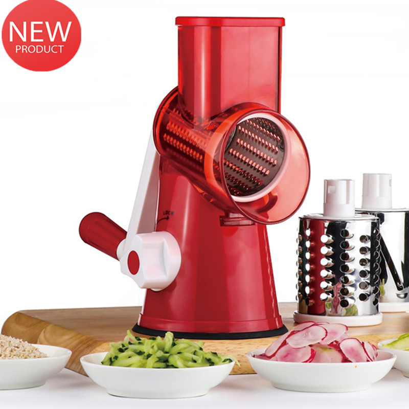Multifunctional Hand-operated Vegetable Cheese Shredder Device Drum-type Kitchen Accessories Vegetable Cutter Food Processor