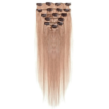 Best Sale Women Human Hair Clip In Hair Extensions 7pcs 70g 18inch Chestnut-color