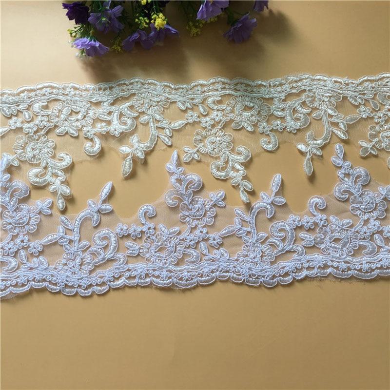 9Yards Vezen Til Čisto Beli Off Beli čipke Trim Preja Cela obleka - Umetnost, obrt in šivanje - Fotografija 1