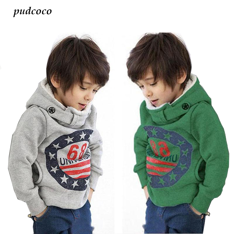 2017 Fashion Cartoon Kids Hoodies Baby Kids Boys Cotton Long Sleeve Letter Print Coat Hoodie Jacket Sweater Pullover Outwear