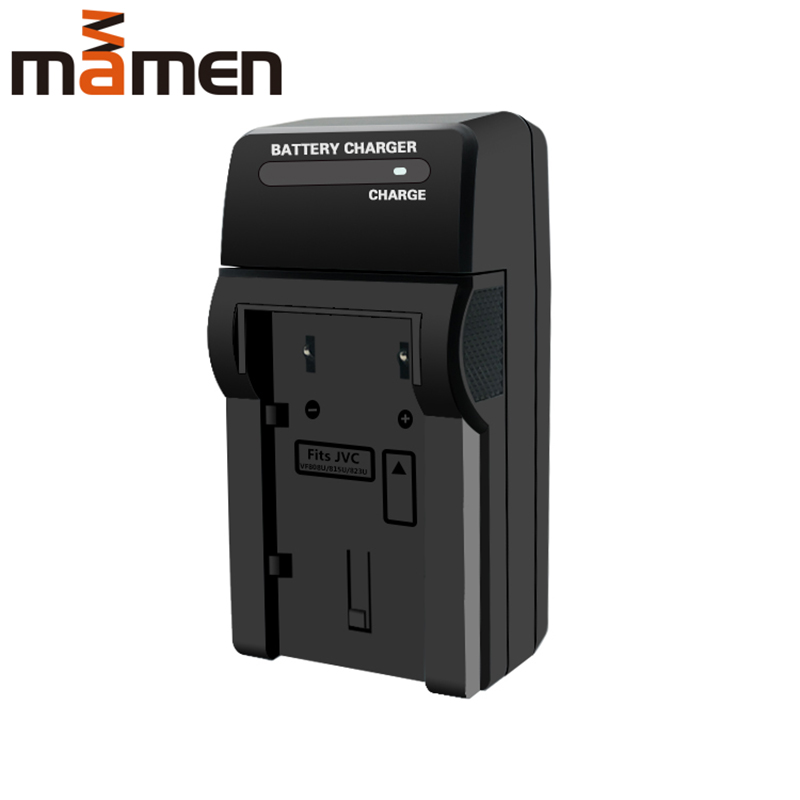 Mamen BN-VF808U VF823U VF815U Single Digital Camera Batteries Charger With DC Port LED Lighting For JVC VF 808U LI-ion Batteries