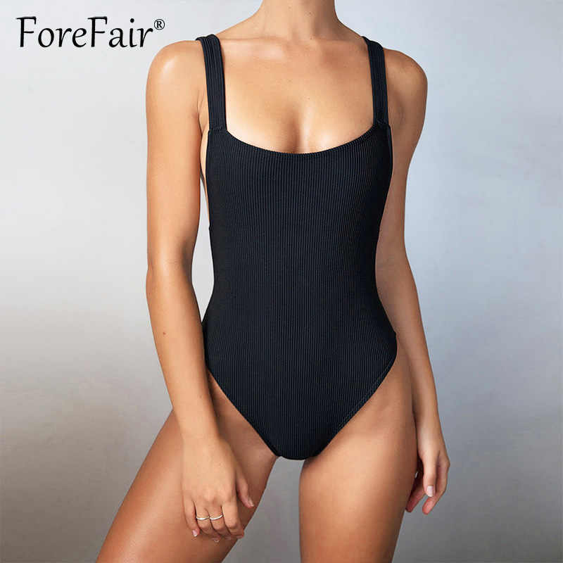 fb71d9d1d8 Forefair Cotton Knitted Bodysuit Woman Backless Sleeveless Skinny Body Women  Rompers 2019 Summer Tank Top Sexy