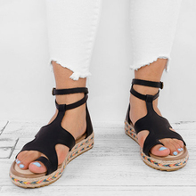 Women Sandals Fashion Gladiator Sandals For Women Summer Wedge Shoes Female Flat Platform Sandals Rome Sandalia Feminina P25