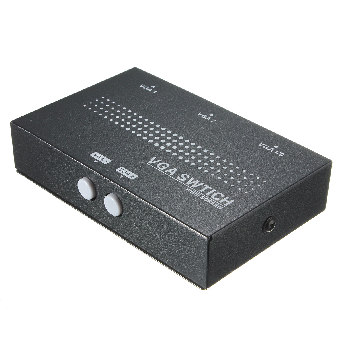 Original Universal 2 Port Hub USB 2.0 KVM SVGA VGA Switch Box Monitor Adapter Connects Printer Intelli Keyboard Mouse Sharing HC