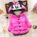 НОВЫЕ 2016 дети куртки детские snowsuit девушки зима snowsuit зимний пиджаки с капюшоном хлопка-ватник цветок пальто детские одежда