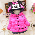 NEW 2016 kids jackets baby snowsuit girls winter snowsuit winter outwear with a hood cotton-padded flower coats baby clothing