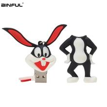 New Bugs Bunny Usb Flash Drive 32GB Pen 64GB 16GB 8GB 4GB Cartoon Animal Pendrive 128GB High Speed Stick Free Shipping