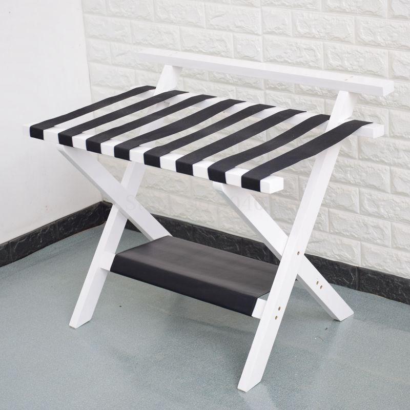 Мебель для отеля, цельная деревянная стойка для багажа, складывающаяся Одежда для хранения кроссовок, домашняя комната, спальня