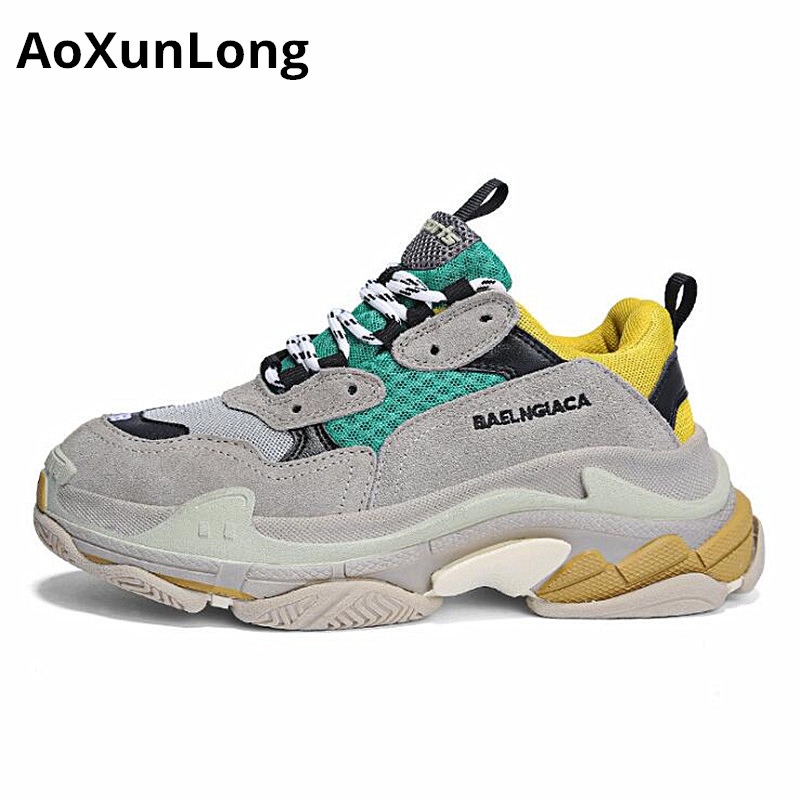 AoXunLong Women Running Shoes For Men Balenciaga Sneakers Women Similar  Brand Balencia Sport Shoes Men Unisex Size 35 44 Hot -in Running Shoes from  Sports ... 0fddb6f951e