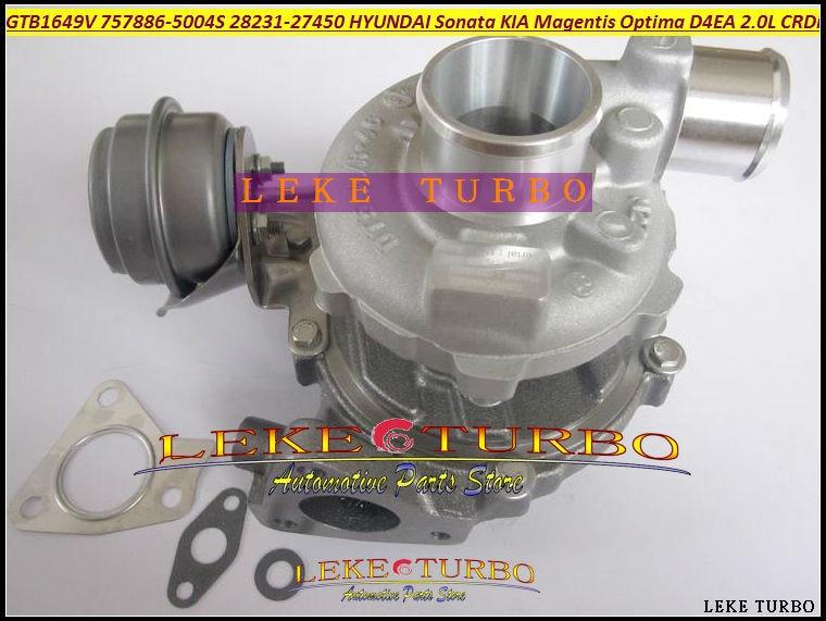 Turbo gtb1649v 757886-5004s 757886 28231-27450 turbocharger for hyundai sonata for kia magentis optim