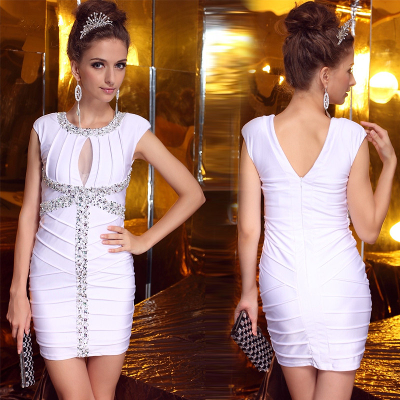 JaneVini Sexy White Short Plus Size   Cocktail     Dresses   2019 Spandex Prom   Dress   Sequined Beaded Mini Evening Gowns Robe De Soriee