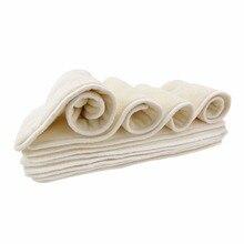5 слоев бамбука и микрофибры вставки для детской ткани пеленки подгузник 50 шт./партия