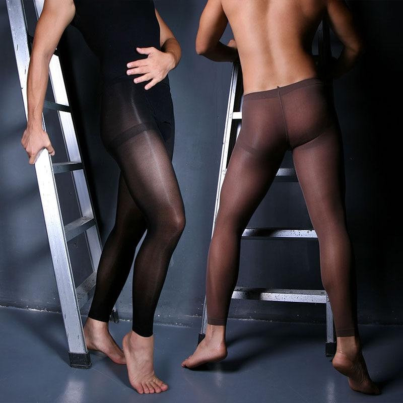 Mænds strømpebukser Velvet 80D fodfrit fortykkelse sexet strømper, der nemt åbner krympebukser til mænd