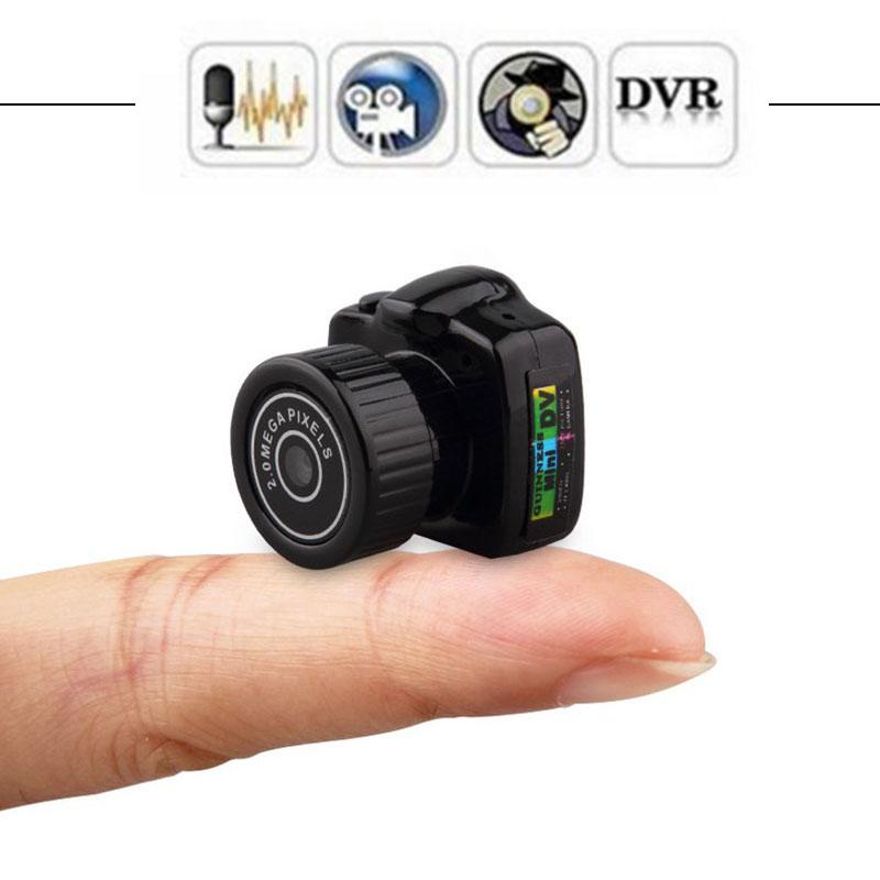 Pequeño Mini cámara de Video HD grabadora de Audio Webcam Y2000 videocámara pequeño DV DVR secreto de seguridad. de niñera del deporte del coche de la Micro Cam con micrófono