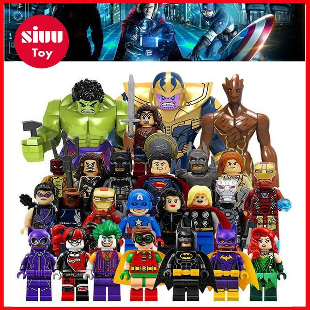 HOT Avengers 3 Infinity War Building Blocks Toys Figures Legoing Marvel Thanos Iron Man Corvus Glaive Capation America Groot