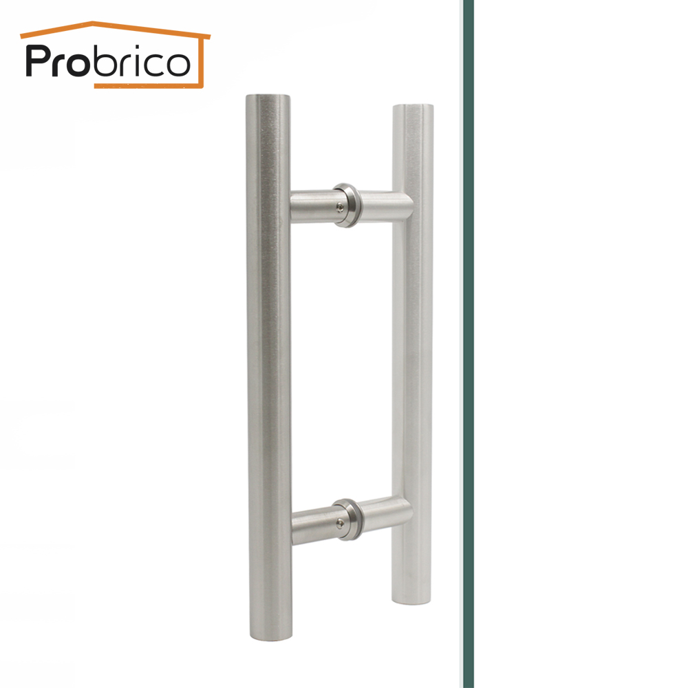 Door Pulls Probrico Inter Outside Door Handles Stainless Steel Hollow Thick Door Pulls Wardrobe Furniture Handles Sliding Barn Door Handle