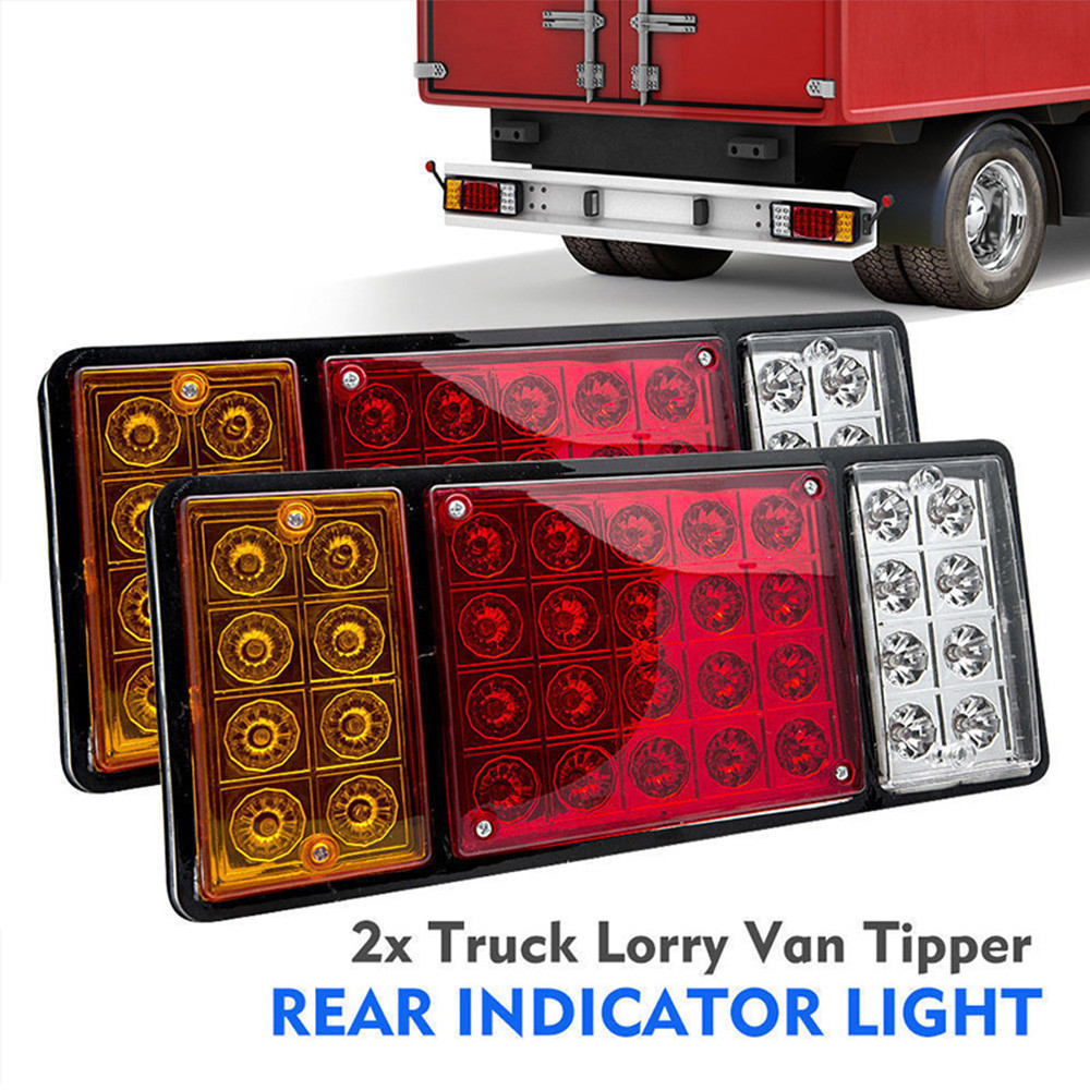 1pair Trailer Light LED Stop Rear Tail Brake Reverse Lights Turn Indiactor Truck Caravan Led Verlichting 12V 36LED Reverse Lamps