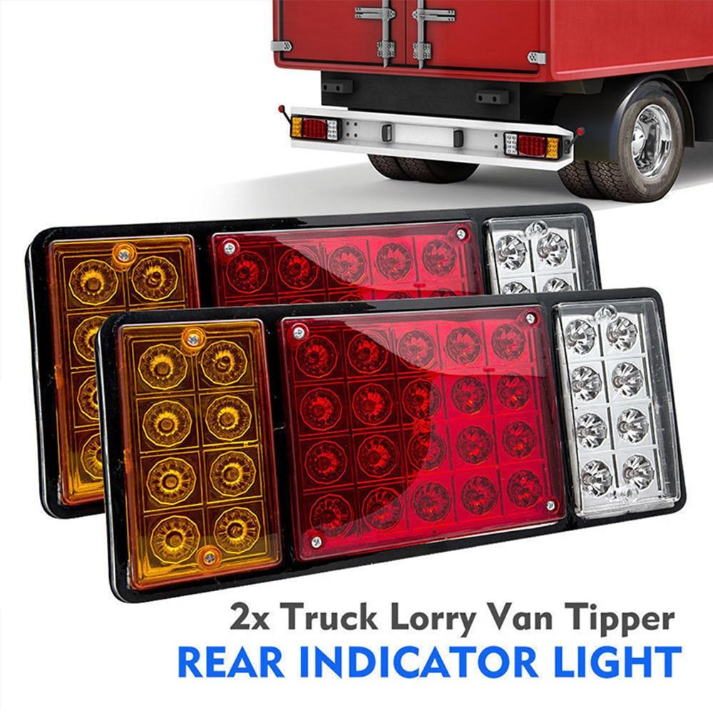 Car Styling 2pcs 36 LED Truck Trailer Rear Tail Stop Brake Reverse Turn Signal Light Indicator Lamp 24V Universal Super Brigt