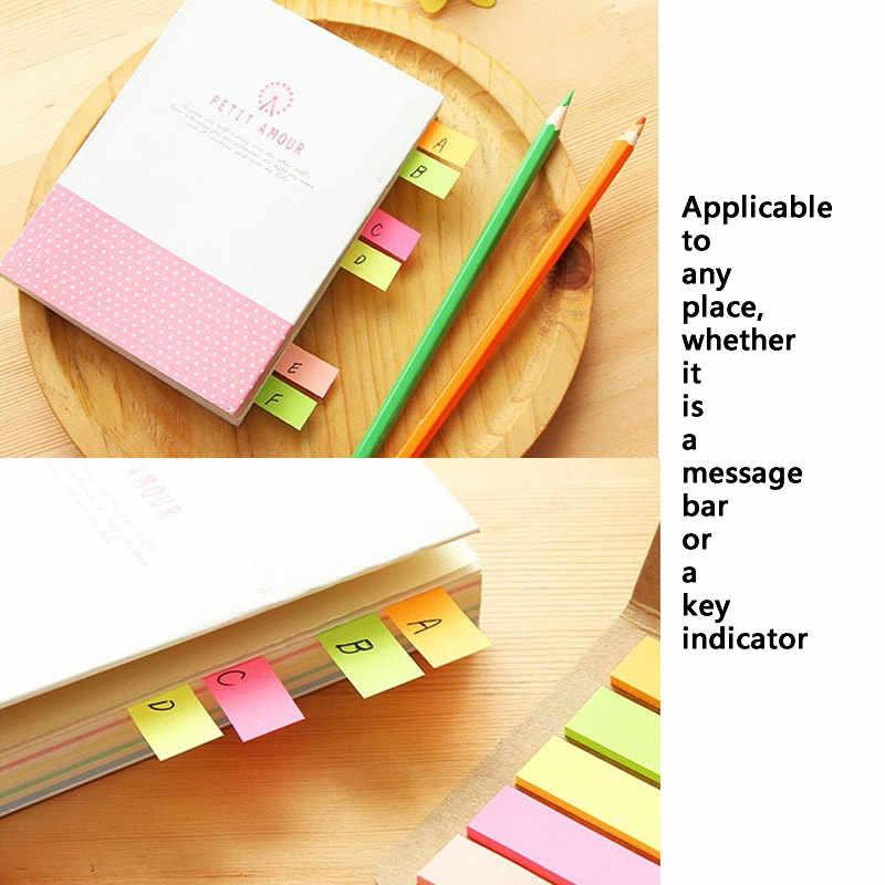 125 דפים אופנה פשוט עור הערה מדבקות צבעים בוהקים N פעמים מדבקות הערה ספר הודעה לוח ספר מרקר משרד מכתבים