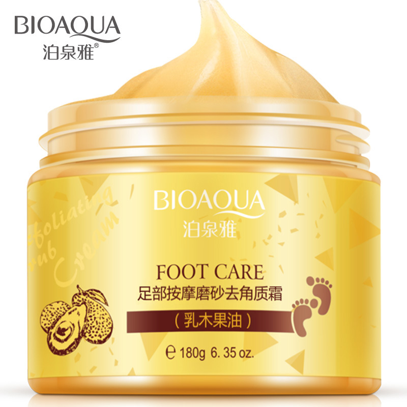 BIOAQUA Brand Foot massage frosted scrub feet membrane membrane foot care Feet cream Beauty Health Care 180g