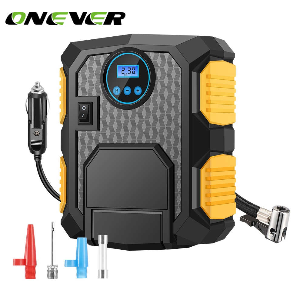Onever 150PSI Air Compressor Car Tire Inflator Built-in LED Light Portable Inflatable Pump for Car Motorcycles Bicycles DC 12V