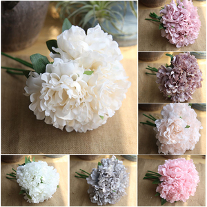 5 Heads 1 Bunch Fake Artificial Floral Flower Wedding Decoration Artificial flowers Peony wedding flowers decoration 7 colors