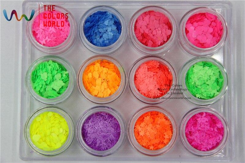 TCT-021 Neon resistente a solventes 12 tipos de colores y 12 tipos de - Arte de uñas - foto 5