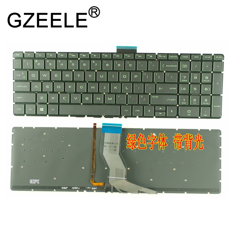GZEELE New US Laptop Keyboard For HP Pavilion 15-ab 15-ak 15-ab000 15-ab100 15-ab200 15z-ab100 15z-ab 15AK 15ab Backlit No Frame