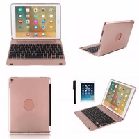 Aluminium Wireless Bluetooth Keyboard Folios Case Cover For IPad Pro 9 7 Air 2