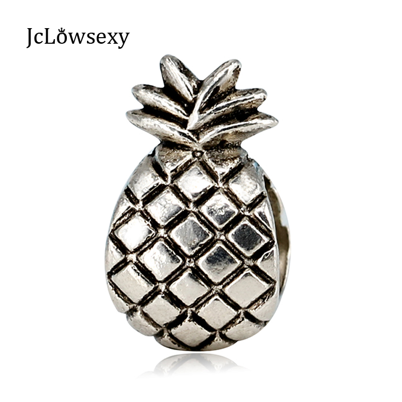 Free Shipping New Ananas Alloy Bead Charms Pineapple Beads Fit Pandora Bracelets & Bangles Necklace YW15185