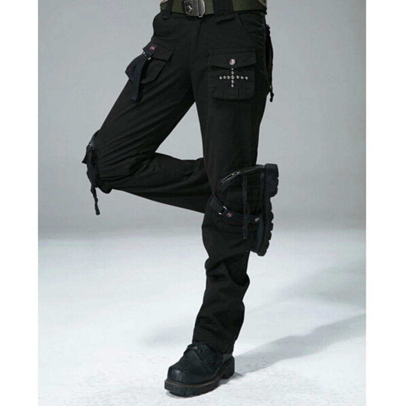 Women Casual Cargo Pants Women's Straight Pockets Military