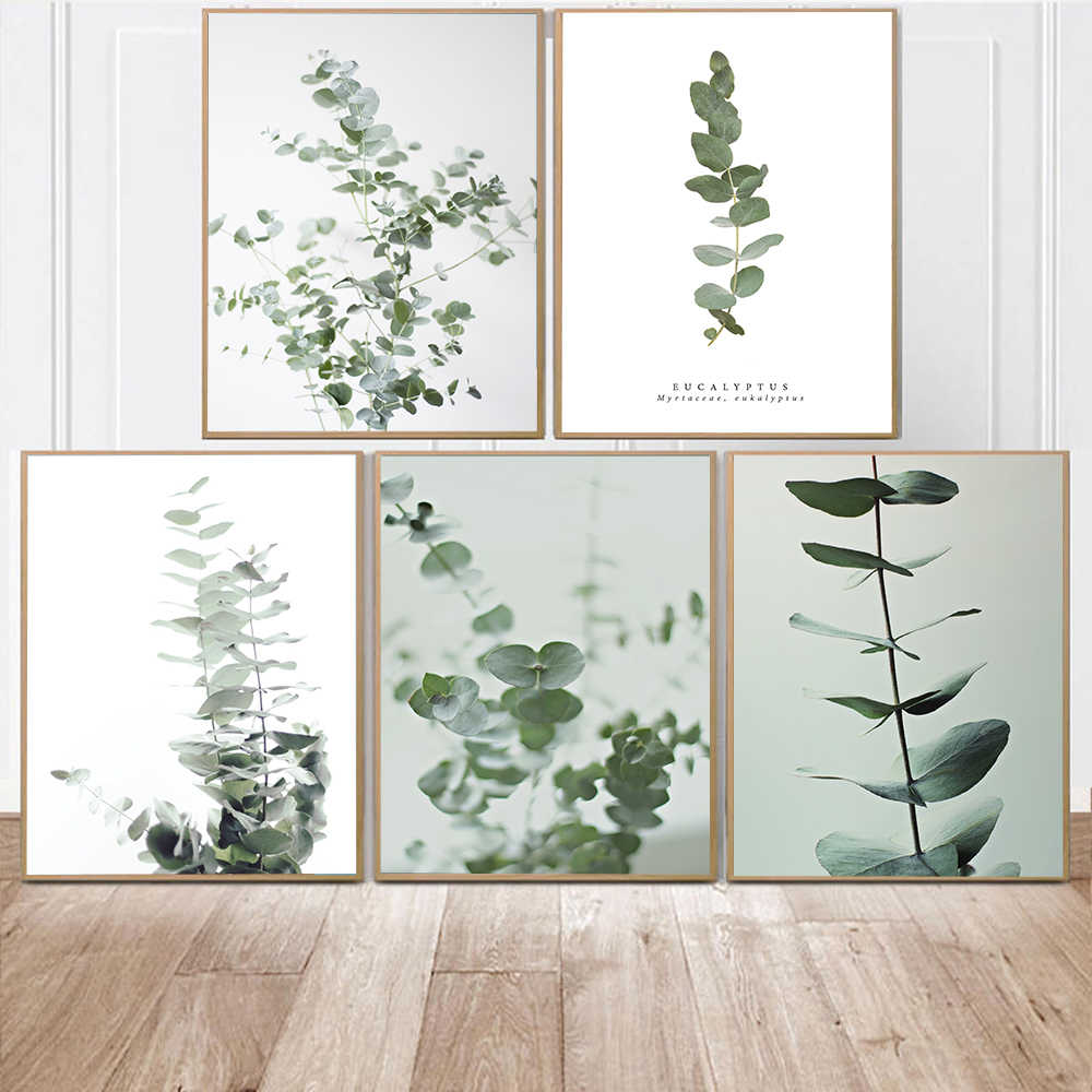 Tropical Leaves Painting Scandinavian Poster Nordic Decoration Home Wall Art Botanical Posters And Prints Decorative Pictures
